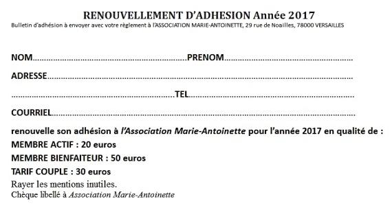 Bulletin d'adhésion 2016